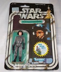 Vintage Star Wars 1978 20 Retour Offre Boba Fett Commandant De La Troupe De La Mort Figure Moc