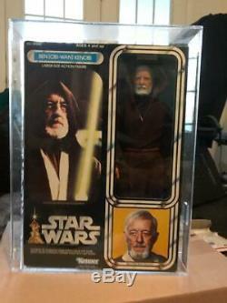 Vintage Star Wars 1978 Kenner Afa 80 Obi Wan Kenobi 12 Pouces Misb Scellés Musée