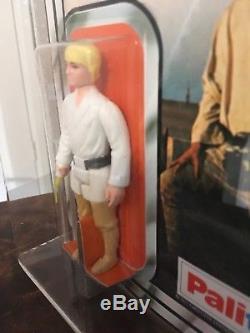 Vintage Star Wars 1978 Moc Palitoy 12-bk-b Luke Skywalker Ukg 90% Gold Non Perforé