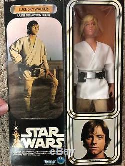 Vintage Star Wars 1979 Kenner Luke Skywalker 12 Pouces Poupée Misb Scellé Boîte