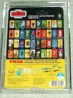 Vintage Star Wars 1980 Afa 75/85/80 Han Solo Bespin Esb 41 Carte De Retour Moc Unp