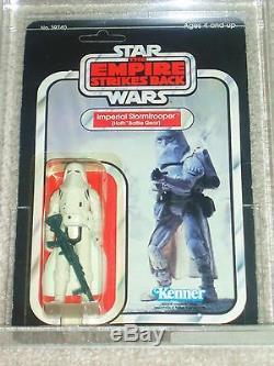 Vintage Star Wars 1980 Afa 80 Hoth Snowtrooper Esb 32 Carte Retour-b Moc Unpunched