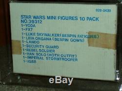 Vintage Star Wars 1980 Afa. Dept Esb Magasin 10-pack Yoda / Leia / Luke / Han / Ig-88 / Terre