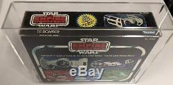 Vintage Star Wars 1980 Kenner Esb Tie Bomber Moulé Sous Pression Afa 60! Objet Rare Premium