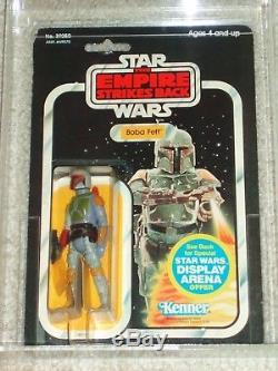Vintage Star Wars 1981 Kenner Afa 75 Boba Fett Esb 45 Arrière Carte Moc