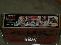 Vintage Star Wars 1983 Kenner Afa 80+ Millénaire Faucon Rotj Scellé Boisé Misb
