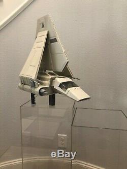 Vintage Star Wars 1984 Rotj Imperial Shuttle Navire Véhicule À Proximité Complète