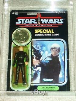 Vintage Star Wars 1985 Afa 80/85/85 Luke Skywalker Jedi Knight Potf 92 Retour Moc