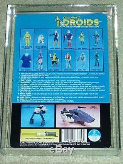 Vintage Star Wars 1985 Afa 85 C-3po Droits Cartoon Tv Série Arrière Carte Moc Unp