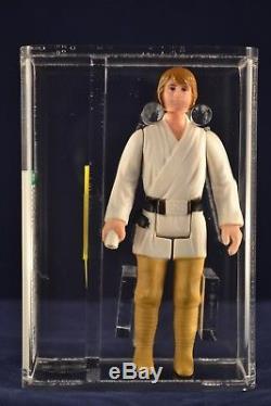 Vintage Star Wars Action Figure Luke Skywalker Cheveux Bruns Loose Afa 85 Anh