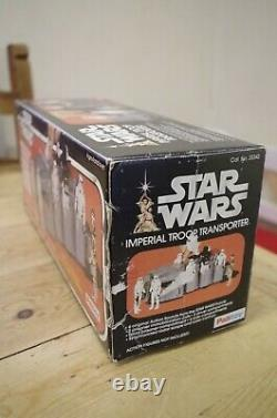 Vintage Star Wars Anh Imperial Troop Transporter Boxed Palitoy