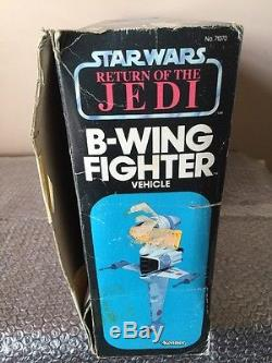 Vintage Star Wars B Wing Fighter 1983 Autocollants Inutilisés Originaux Inutilisés Avecbox