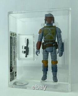 Vintage Star Wars Boba Fett Action Figurine 1979 Kenner Rare Bras Non Peint Cas 85