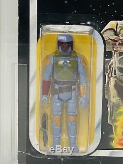 Vintage Star Wars Boba Fett Rotj Cardée Action Figure Moc Afa 70 Clair Bullé