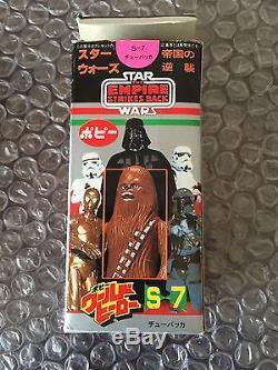 Vintage Star Wars Chewbacca Popy Empire Frappe Arrière Sac Kenner S-7