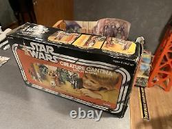 Vintage Star Wars Creature Cantina Action Playset Complete Pas D'instructions Lot