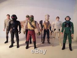 Vintage Star Wars Dernier Lot De 17 Yak Face Luke Stormtrooper Imperial Gunner Barada