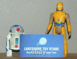Vintage Star Wars Droides Cartoon Figures R2d2 & C3po Original Nice Kenner