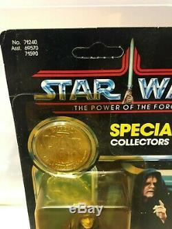 Vintage Star Wars Emperor Sur Le Pouvoir De La Force (potf Unpunched) Sur La Carte 92