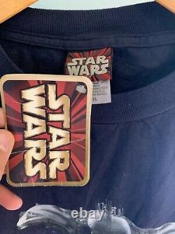Vintage Star Wars Episode 1 Tie Dye Shirt Nwt Film Promo 1999 90s