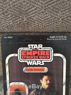 Vintage Star Wars Esb Canadien Lando Calrissian Moc À 41 Dos, Transparent
