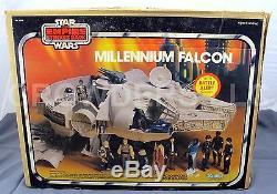 Vintage Star Wars Esb Millennium Falcon Avec Boîte Kenner'79 + Chewy Han & Leia Oop