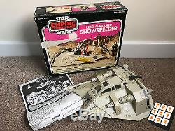 Vintage Star Wars Esb Palitoy Boxed Snowspeeder Pink Box Avec Manuel