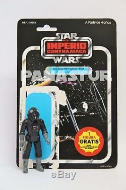 Vintage Star Wars Espagnol Pbp El Imperio Contraataca Tie Fighter Pilote + Carte