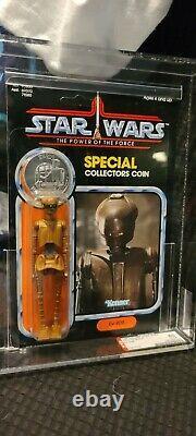 Vintage Star Wars Ev-9d9 Potf Mint Afa 80 92 Retour! Royaume