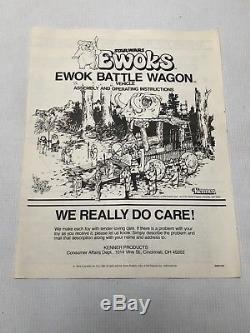 Vintage Star Wars Ewok Battle Wagon Potf Inserts Complets En Boîte Contenu Inutilisé