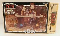 Vintage Star Wars Ewok Village Etui 1983 Un Nettoyage Complet Unbroken