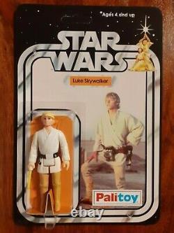 Vintage Star Wars Figure 12 Dos Recard Set Palitoy 1977 R2d2, C3po. Luke, Jawa