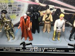 Vintage Star Wars First 12 Figurines Early Mail Mailaway Stand Non Joué Avec