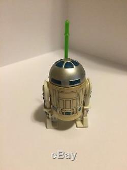 Vintage Star Wars Glasslite R2-d2 R2d2 Avec Sabre Laser Très Rare En Grande Forme