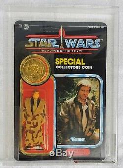 Vintage Star Wars Han Solo Trench Afa 80 80/85/85 Potf Dernière 17 Unpunched