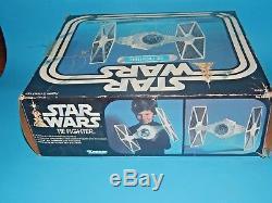 Vintage Star Wars Imperial Tie Fighter Travaillant Lumière & Son Avec Box & Instr