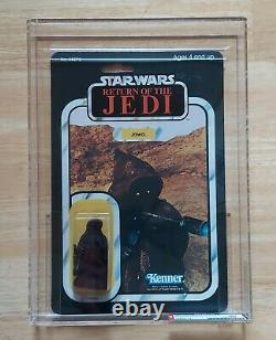 Vintage Star Wars Jawa Afa 80 80/80/90 Rare Clear Bubble! Retour De Jedi 65 Retour