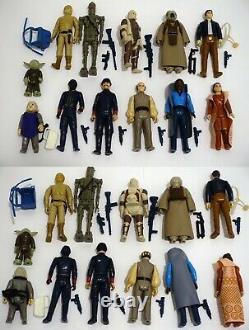 Vintage Star Wars Kenner Figure Et Armes Lot 1977-1984 Avec Boîtier C3-po + Plus