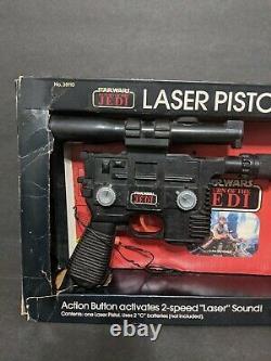 Vintage Star Wars Laser Pistol Han Solo Blaster Kenner 1983 Travaux Complets