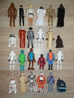 Vintage Star Wars Lot First 12 21 Etui De Collectionneurs Kenner Boba Fett Luke 1977