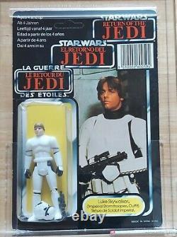 Vintage Star Wars Luce Stormtrooper Afa 80 80/80/85 Palitoy Tri Logo Skywalker