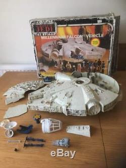 Vintage Star Wars Millennium Falcon Rotj Complet Et Avec Boîte D'origine