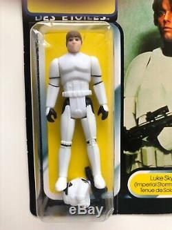 Vintage Star Wars Palitoy Tri-logo Luke Skywalker Stormtrooper Moc Dernière 17