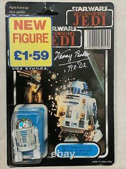 Vintage Star Wars Palitoy Trilogo Dernier 15/17 R2-d2 Pop Up Moc Non-punched Signé