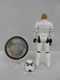 Vintage Star Wars Potf 1984 Luke Stormtrooper N Mint Complet Avec Coin Kenner