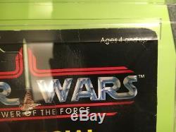 Vintage Star Wars Potf Amanaman Afa 60 Y-ex (c60 B85 F85) Moc Avec Pièce De Monnaie 92