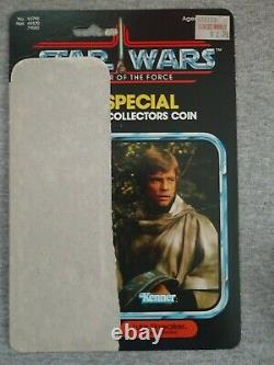 Vintage Star Wars Potf Luke Poncho Avec Pièce De Monnaie, Carte De Retour 100% Original 1985 17 Derniers