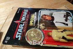 Vintage Star Wars Potf Luke Skywalker Dans Le Chiffre De Déguisement De Stormtrooper