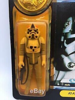 Vintage Star Wars Puissance De La Force Pilote At-at Potf Moc Kenner Factory 1984