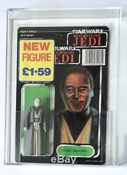 Vintage Star Wars Rotj 17 Dernière Trilogo Anakin Skywalker Afa 75+ (75/80/85) Moc